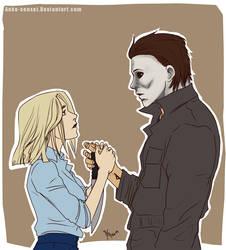 Halloween_Micheal/Laurie-Tausendmal du by Anko-sensei