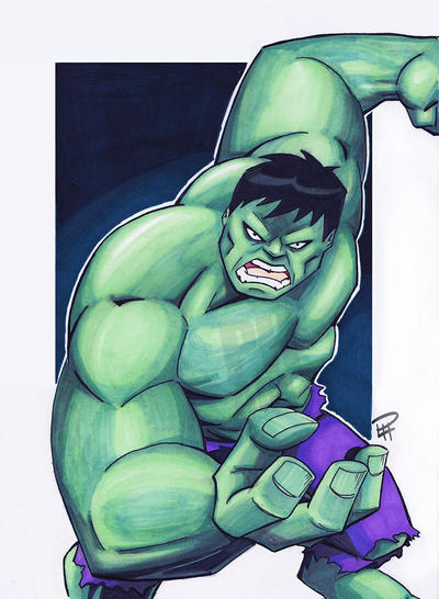 The Incredible Hulk by Pauljhill