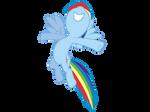 Flying Rainbowdash