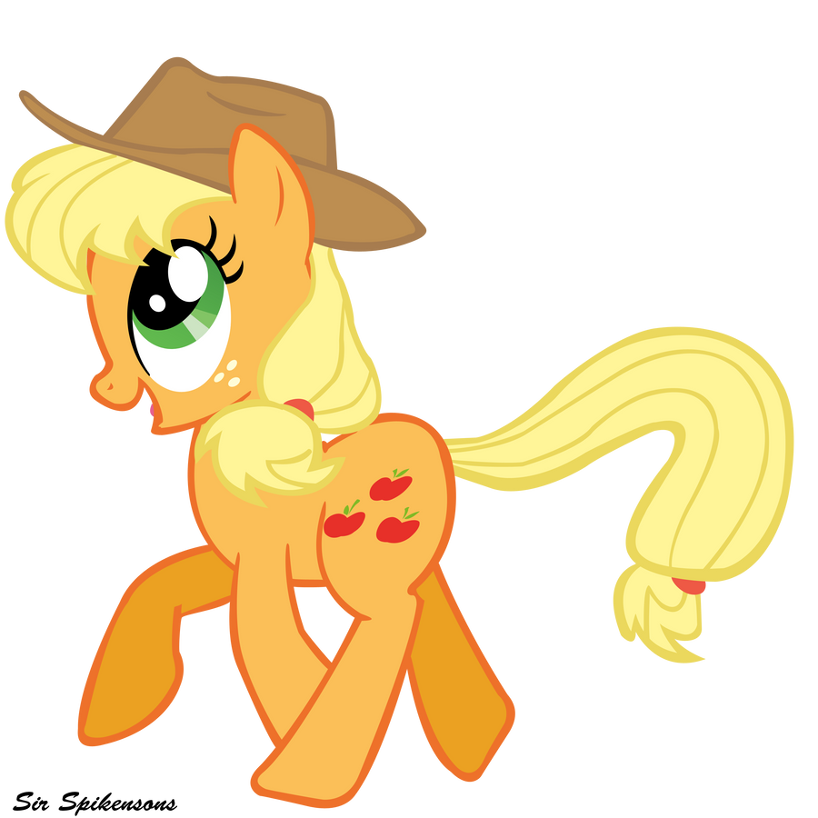 Happy Applejack by SirSpikensons on DeviantArt Happy Applejack Vector