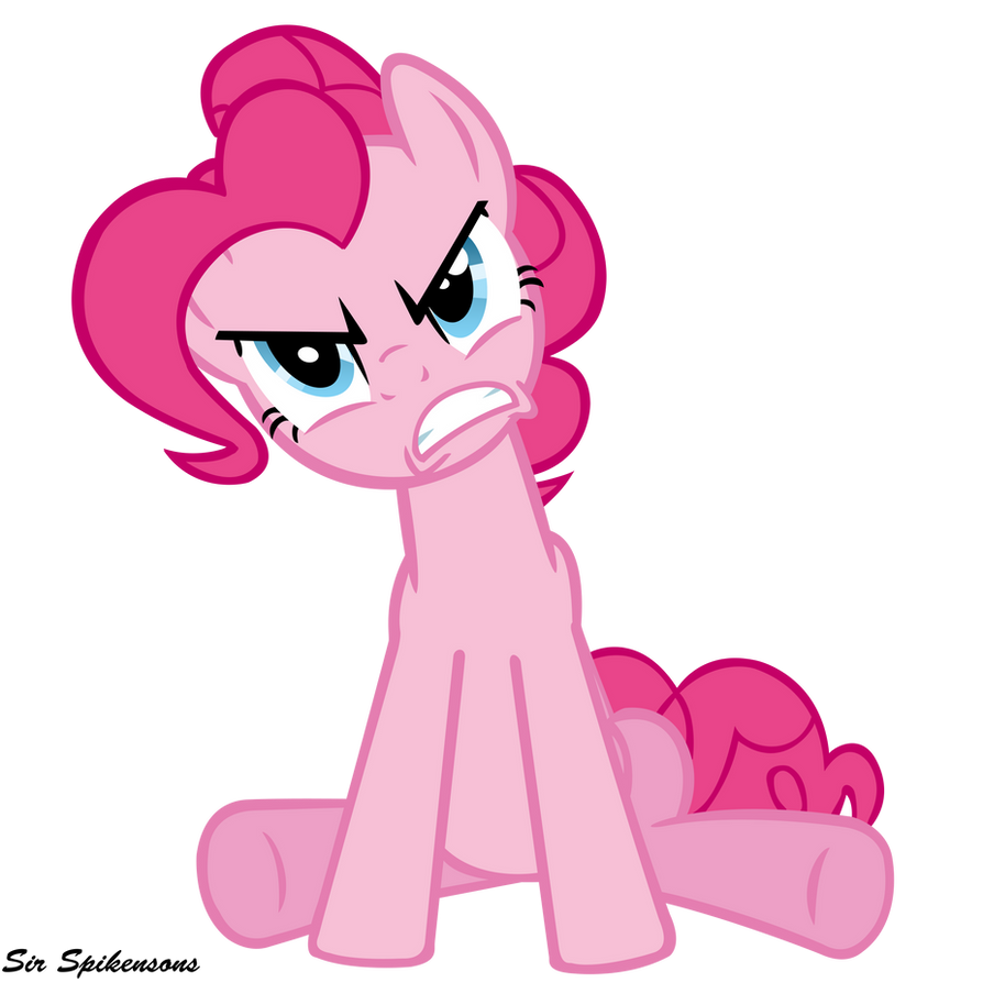 Angry Pinkie by SirSpikensons
