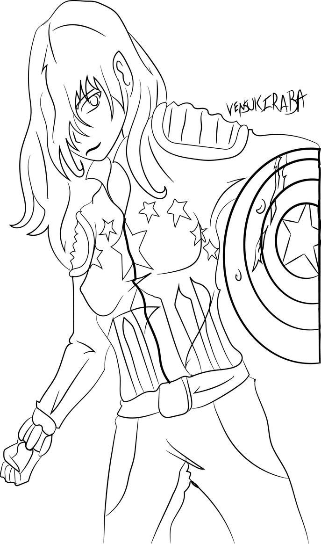 Line Drawing Usa : Captain america line art by narunami on deviantart