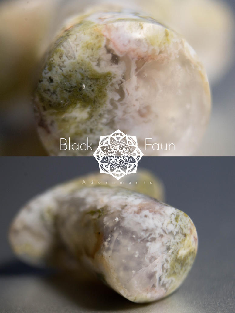 10m Moss agate labret by BlackFaunAdornment