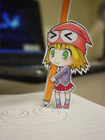 Chibi Paper Child: Amitie by cafe-delight