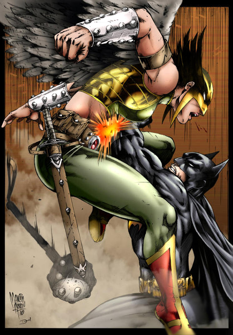Batman and Hawkwoman by Seabra