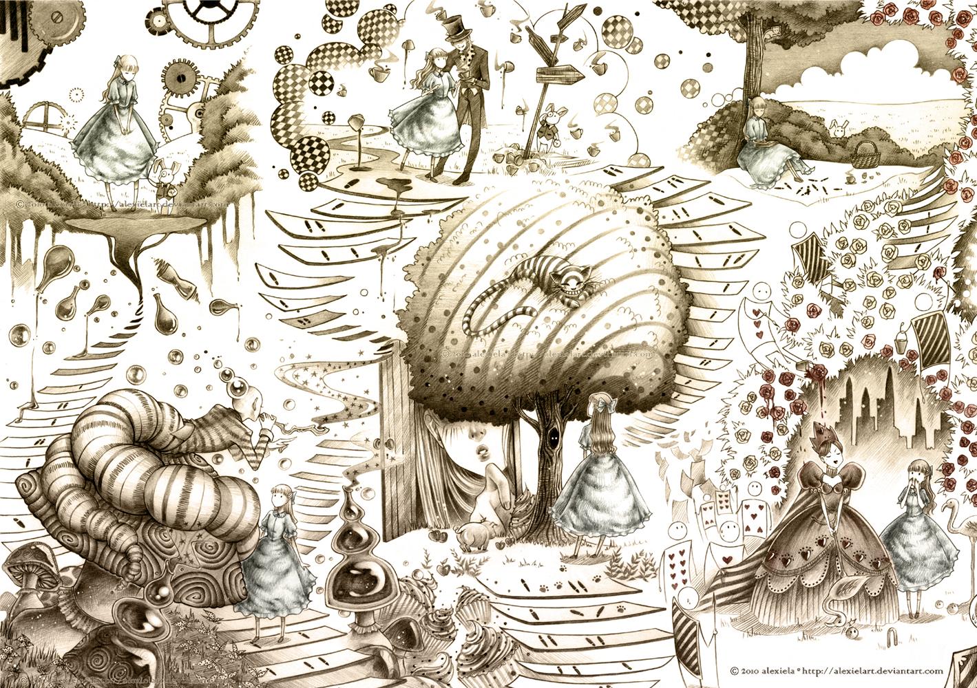 Alice In Wonderland By Alexielart On Deviantart