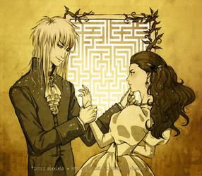 Labyrinth: Jareth and Sarah by alexielart