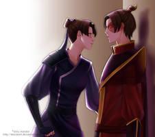 Commission: Kori and Zuko by alexielart
