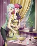 Commission: Lyra and Bonbon