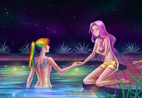 Commission: Rainbow Dash and Fluttershy by alexielart