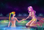 Commission: Rainbow Dash and Fluttershy