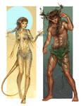 Commission: Wild Elves 1-2