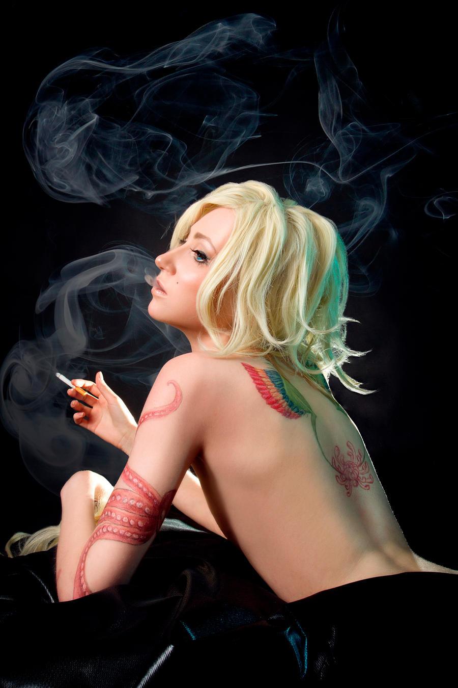 Benten  and smoke by Kurai-Kardi