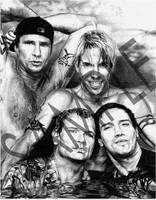 Red Hot Chili Peppers by Graphite-Wizzard