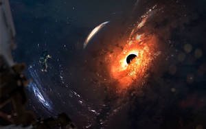 Messier 87 Black hole by VadimSadovski