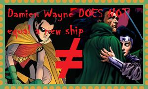 Damian Wayne Doesn't Equal Nightstar stamp by Moonstone27