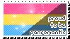 Panromantic stamp