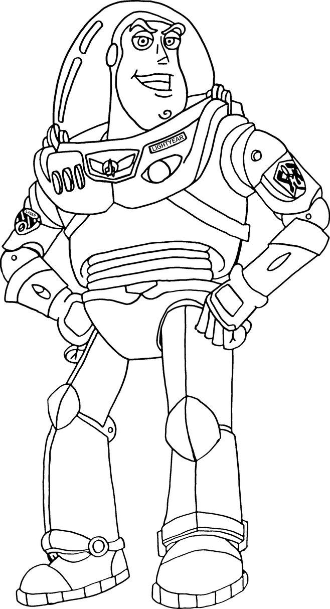 buzz lightyear outline by ryanh1984