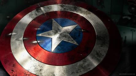 Cap's Shield by A13XANDER