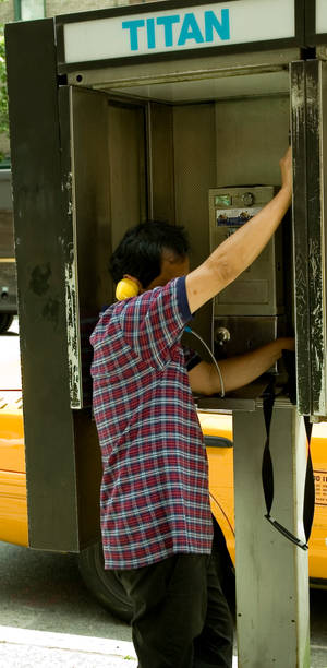 man by phone