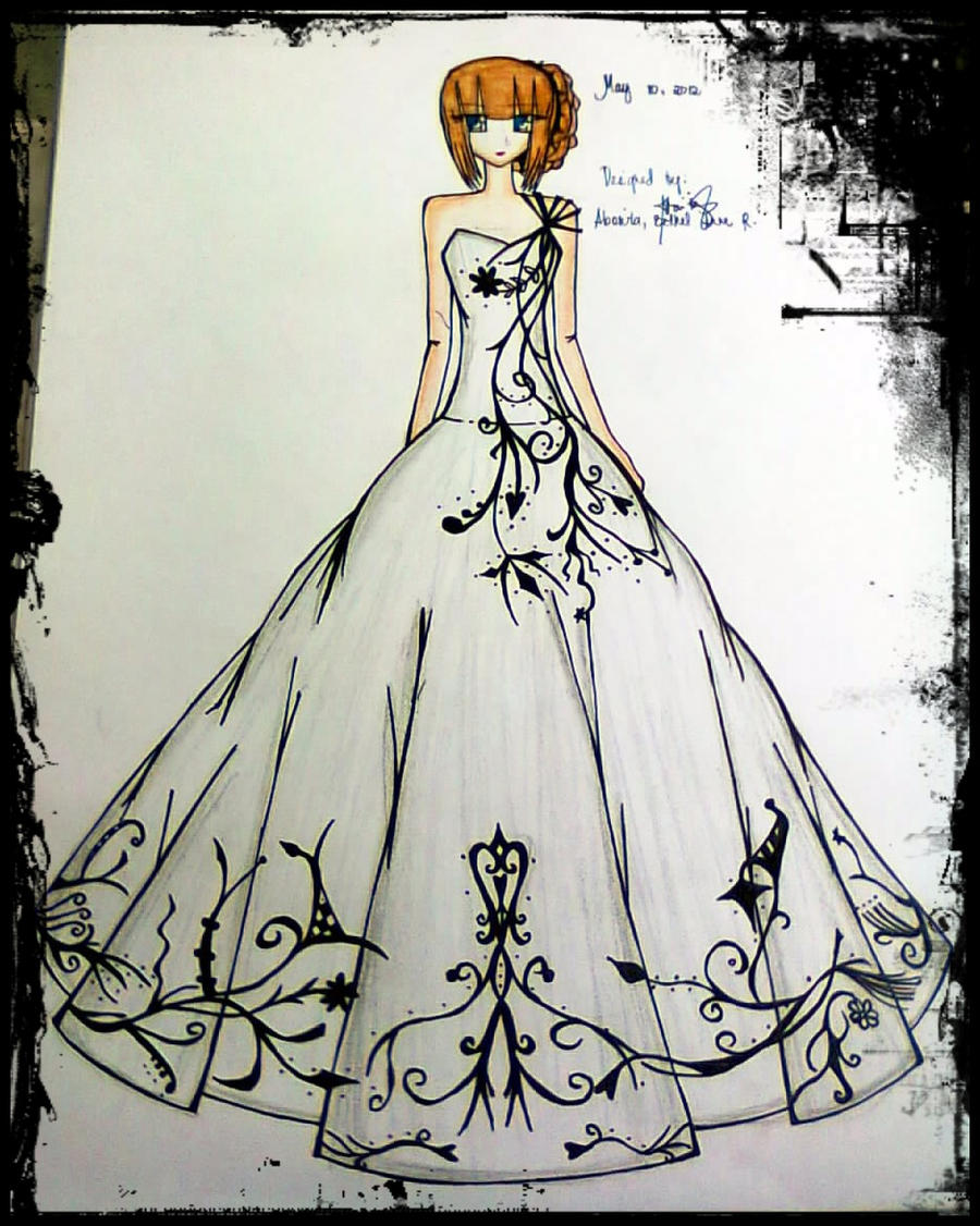 black and white ball gown by BethzAbonitz on DeviantArt