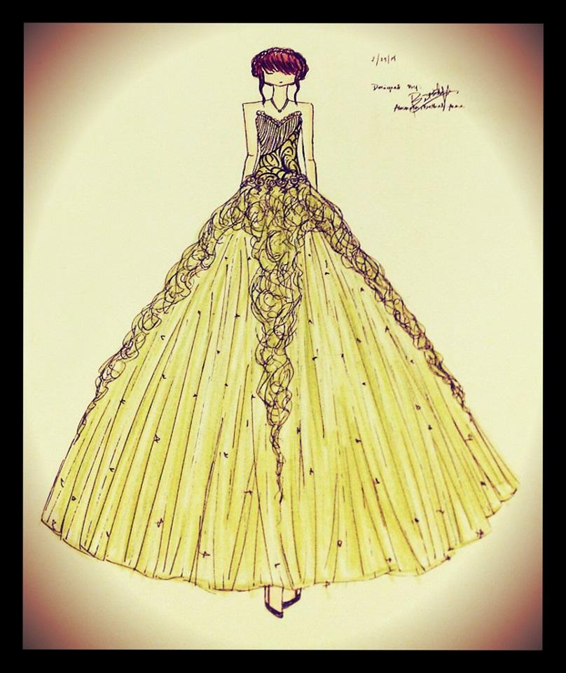 Green debut gown by BethzAbonitz on DeviantArt