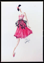 Pink Mariposa Inspired Cocktail Dress by BethzAbonitz