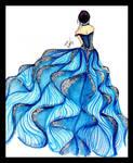 Glittered Fashion Illustration by BethzAbonitz
