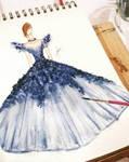 Blue Gown by BethzAbonitz