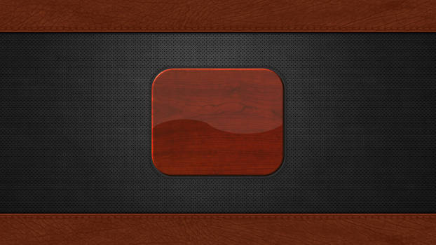 Login Screen: Metal Holes, Leather and Wood