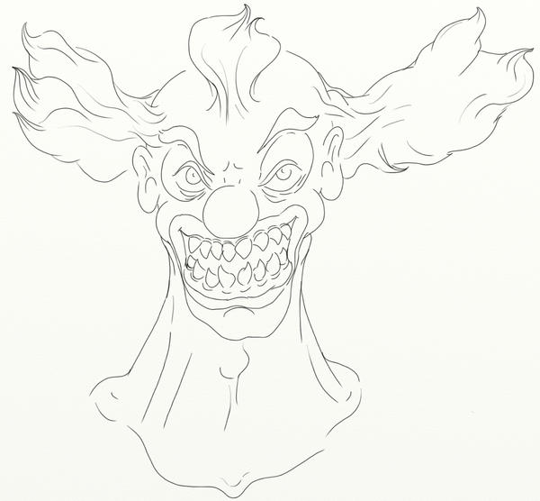 crazy Clown lines by Titus-rab