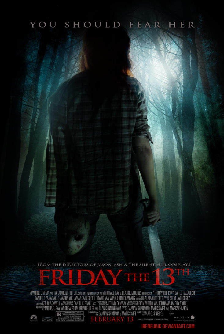 Lady Jason - Friday the 13th - Fan Fake Poster by IreneUbik