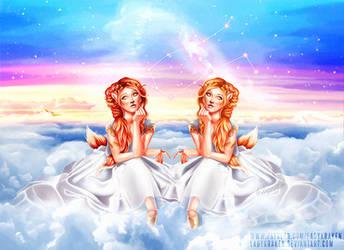 Gemini OC - 12 Zodiac Ladies by LadyKraken