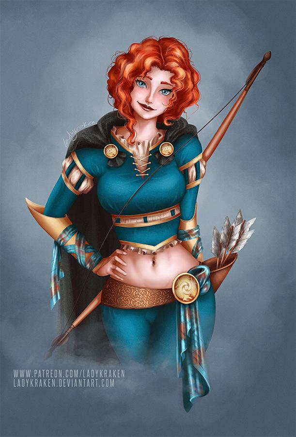 Merida Rogue Re-Design - Commission by LadyKraken