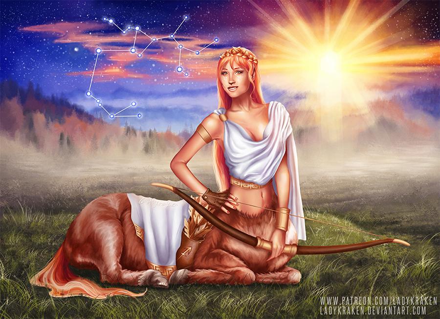 Sagittarius OC - 12 Zodiac Ladies by LadyKraken