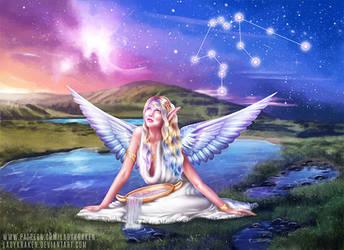Aquarius OC - 12 Zodiac Ladies by LadyKraken
