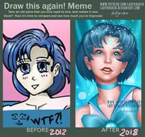 Draw this again! Meme - Sailor Mercury 2012 - 2018 by LadyKraken