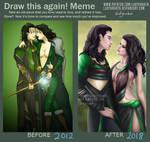 Draw this again! Meme - Loki/Lady Loki 2012 - 2018