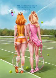 Daisy and Peach / Mario Tennis Aces - Patreon Poll