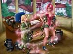 Sakura-Tsunade Age Swap Commission by LadyKraken