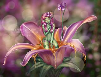 Driade Flower Nymph OC SFW Patreon Poll by LadyKraken