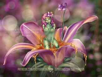 Driade Flower Nymph OC NSFW version Patreon Poll by LadyKraken