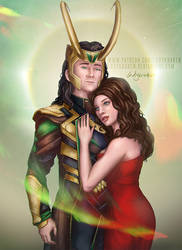 Loki/Darcy Answering The Shadows - Commission by LadyKraken