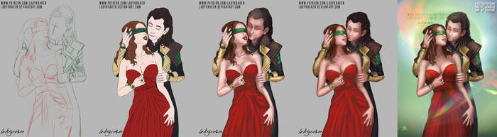 Loki/Darcy Hold Me Down - Step by Step + Video by LadyKraken