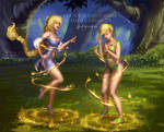 Calla and Sunni Gummi Transformation - Commission by LadyKraken