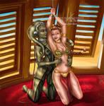 Leia/Oola NSFW - Commission by LadyKraken