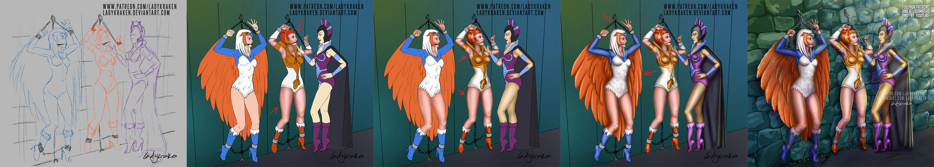 Teela, Sorceress, Evil-lyn - Step by Step + Video