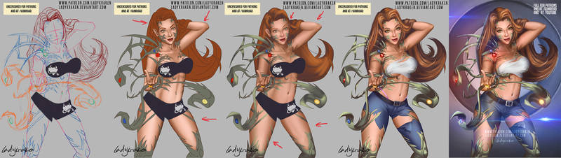 Witchblade Sara Pezzini - Step by Step + Video