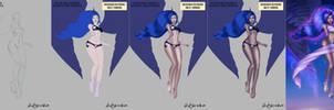 Princess Luna - Moon Goddess- Step by Step + Video