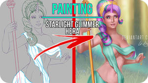 Starlight Glimmer MLP Queen Of Gods-Painting Video